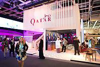 DEU, Deutschland, Germany, Berlin, 07.03.2019: Internationale Tourismus-Börse (ITB) auf dem Berliner Messegelände, Stand von Qatar.