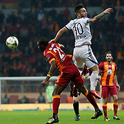 Galatasaray's Aurelien Bayard Chedjou Fongang (L) during their Turkish Super League soccer match Galatasaray between Kasimpasaspor at the TT Arena at Seyrantepe in Istanbul Turkey on Friday, 31 October 2014. Photo by Kurtulus YILMAZ/TURKPIX