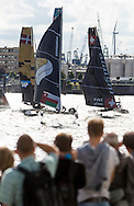 The Extreme Sailing Series 2016. Act 4. Hamburg. Germany. 30th July 2016.(Photo by Lloyd Images)