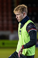 Crawley Town midfielder Josh Wright (#44) warms up ahead of the EFL Sky Bet League 2 match between Crawley Town and Walsall at The People's Pension Stadium, Crawley, England on 16 March 2021.