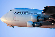 Cargo flight by ElAl Israel Airlines Boeing 747-400