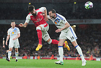 Football - 2016 / 2017 Premier League - Arsenal vs. Sunderland<br /> <br /> Olivier Giroud of Arsenal and John O'Shea of Sunderland at The Emirates.<br /> <br /> COLORSPORT/ANDREW COWIE