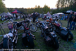 Camping outside the Twin Club clubhouse in Norrtälje, Sweden before the annual bike show. Friday, May 31, 2019. Photography ©2019 Michael Lichter.