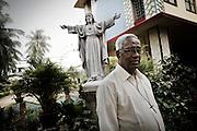 One of the Christian leader in Orissa's capital Bhubaneswar. .Nov. 06, 2008.