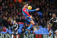Marouane Chamakh of Crystal Palace in action. Barclays Premier League match, Crystal Palace v Chelsea at Selhurst Park in London on Sunday 3rd Jan 2016. pic by John Patrick Fletcher, Andrew Orchard sports photography.