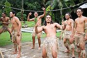 Polynesian dancers, Puamau, Hiva Oa, Marquesas Islands, French Polynesiav<br />