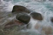 Rocks at the shoreline of Utakleiv, Lofoten Norway.