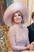 Staatsbezoek van Koning en Koningin aan de Republiek Italie - dag 1 - Rome /// State visit of King and Queen to the Republic of Italy - Day 1 - Rome<br /> <br /> Op de foto / On the photo: Koningin Maxima in het Palazzo del Quirinale <br /> <br /> Queen Maxima at the Palazzo del Quirinale