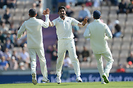Jasprit Bumrah of India celebrates the wicket of Keaton Jennings during the first day of the 4th SpecSavers International Test Match 2018 match between England and India at the Ageas Bowl, Southampton, United Kingdom on 30 August 2018.