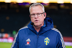 November 20, 2018 - Stockholm, SVERIGE - 181120 Head coach Janne Andersson of Sweden in the Cmore studio after the Nations League football match between Sweden and Russia on November 20, 2018 in Stockholm. (Credit Image: © Andreas L Eriksson/Bildbyran via ZUMA Press)
