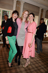Left to right, JASMINE GUINNESS, JADE PARFITT and SOPHIE ELLIS-BEXTOR at the Blue Monday Cheese Launch presented by Alex James and held at The Cadogan Hotel, Sloane street, London on 11th June 2013.