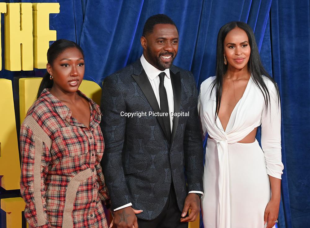 "Isan Elba, Idris Elba and Sabrina Elba attended ""The Harder They Fall"" Opening Night Gala - 65th BFI London Film Festival, Southbank Centre, London, UK. 6 October 2021."