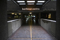 October 6, 2018 - London, England, United Kingdom - Barbican estate is pictured as the rain falls, London on October 6, 2018. (Credit Image: © Alberto Pezzali/NurPhoto/ZUMA Press)