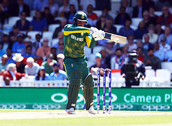 June 11, 2017 - London, United Kingdom - Quinton de Kock of South Africe.during the ICC Champions Trophy match Group B between India and South Africa at The Oval in London on June 11, 2017  (Credit Image: © Kieran Galvin/NurPhoto via ZUMA Press)