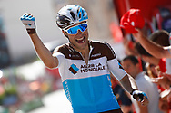 Arrival, Tony Gallopin (FRA - AG2R - La Mondiale) winner, during the UCI World Tour, Tour of Spain (Vuelta) 2018, Stage 7, Puerto Lumbreras - Pozo Alcon 185,7 km in Spain, on August 31th, 2018 - Photo Luca Bettini / BettiniPhoto / ProSportsImages / DPPI