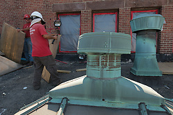 Ancient Brass Roof Vents. Bridgeport Courthouse GA 2 Renovations. Replace Roof and Masonry Repairs CT Dept of Public Works Project # BI-JD-305. Third Progress Photography Shoot: 17 August 2011