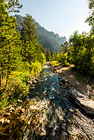 South Boulder Creek, Eldorado Canyon State Park, Eldorado Springs, near Boulder, Colorado USA. Eldorado Canyon is a world famous trad rock climbing area.
