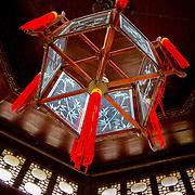 Traditional Chinese lantern inside Celestial Spring Pavilion (Suzhou, China - Sep. 2008) (Image ID: 080926-1306112a)