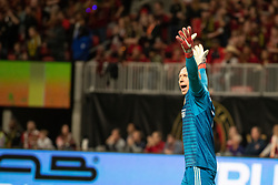 December 8, 2018 - Atlanta, Georgia, United States - Atlanta United goalkeeper BRAD GUZAN (1) upset about a call during the MLS Cup at Mercedes-Benz Stadium in Atlanta, Georgia.  Atlanta United defeats Portland Timbers 2-0 (Credit Image: © Mark Smith/ZUMA Wire)