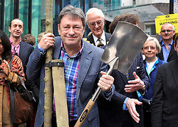 ©London News pictures. 01/04/2011. PR USE ONLY. NOT FOR PUBLICATION BY LNP. Alan Titchmarsh plants Tree for Ridgeford. Picture credit should read Stephen Simpson/LNP