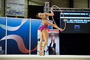 Gilda De Vecchis from Nervianese team during the Italian Rhythmic Gymnastics Championship in Padova, 25 November 2017.