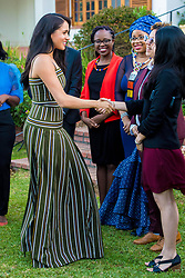 September 24, 2019, Cape Town, SOUTH AFRICA: 24-09-2019 Cape Meghan Markle, Duchess of Sussex, during a reception for young people, community and civil society leaders at the Residence of the British High Commissioner in Cape Town, on the 2nd day of the visit to South Africa..The Commonwealth Point of Light awards recognise outstanding individual volunteers who are making a change in their community. .These awards were given for the young leaders work in helping the environment. (Credit Image: © face to face via ZUMA Press)