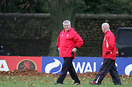 The Wales rugby team press conference and team training on 18/11/2008 ahead of their autumn international against New Zealand.  Wales head coach Warren Gatlland and assistant Shaun Edwards. .pic by Andrew Orchard ©  Andrew Orchard sports photography