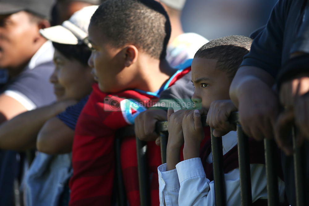 A young fan enjoys the action during the Currie Cup premier division match between the Boland Cavaliers and The Blue Bulls held at Boland Stadium, Wellington, South Africa on the 23rd September 2016<br /> <br /> Photo by:   Shaun Roy/ Real Time Images