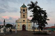 Church and square in Vinales, Pinar del Rio, Cuba.