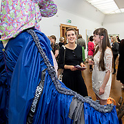 """18.05.2018.          <br /> More than 500 people attended the flagship event of the inaugural Unwrap LSAD Fashion Festival in Limerick.<br /> <br /> Pictured at the event were, Amelia and Sadbh Perry.<br /> <br /> The Limerick School of Art & Design, LIT, Fashion Design Graduate Exhibition and launch of the """"The Fashion Film"""" at Limerick City Gallery of Art, in partnership with EVA International, attracted hundreds of people from the world of fashion. <br /> <br /> A total of 27 fashion graduates presented their designs alongside the specially commissioned film by fashion stylist and creative director Kieran Kilgallon and videographer Albert Hooi. Picture: Alan Place"""