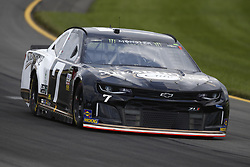 June 1, 2018 - Long Pond, Pennsylvania, United States of America - JJ Yeley (7) brings his car through the turns during practice for the Pocono 400 at Pocono Raceway in Long Pond, Pennsylvania. (Credit Image: © Chris Owens Asp Inc/ASP via ZUMA Wire)