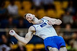 November 2, 2018 - Doha, Qatar - Artem Dolgopyat of Israel   during  Floor for Men at the Aspire Dome in Doha, Qatar, Artistic FIG Gymnastics World Championships on 2 of November 2018. (Credit Image: © Ulrik Pedersen/NurPhoto via ZUMA Press)