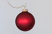 A red Christmas ornament. Missoula Photographer