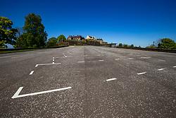 Empty Stirling Castle esplanade. Stirling area lockdown 6/5/2020.