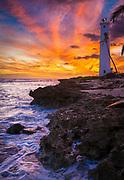 Barbers Point lighthouse on Oahu, Hawaii