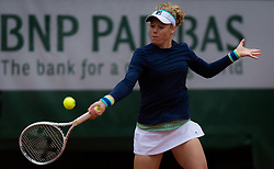 May 29, 2019 - Paris, FRANCE - Laura Siegemund of Germany in action during her second-round match at the 2019 Roland Garros Grand Slam tennis tournament (Credit Image: © AFP7 via ZUMA Wire)