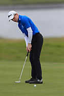 Joshua Hill (Galgorm Castle) on the 15th green during Round 2 of the Connacht U16 Boys Amateur Open Championship at Galway Bay Golf Club, Oranmore, Galway on Wednesday 17th April 2019.<br /> Picture:  Thos Caffrey / www.golffile.ie
