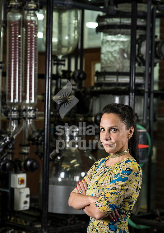 Lorena Baird, Chief Executive of Baird & Co. bullion merchants pictured in their east London facility.<br /> Picture by Daniel Hambury/Stella Pictures Ltd 07813022858<br /> 25/09/2017