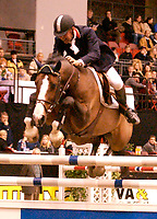 Rikstoto Grand Prix, Oslo Horse Show, Oslo Spektrum 19.10.02 <br /> Saturday, October 19th 2002. CLEAR ROUND'S THAN PARTY  Geir GULLIKSEN (NOR) <br /> Foto: Geir Egil Skog, Digitalsport.