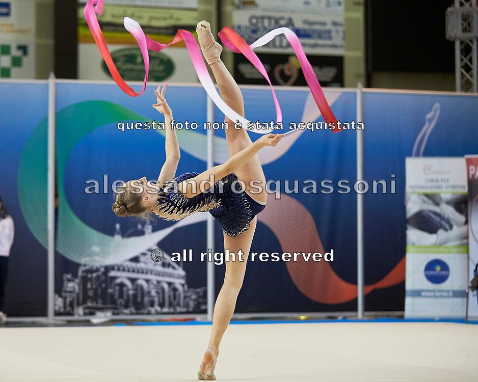 Boryana Kaleyn from Petrarca team during the Italian Rhythmic Gymnastics Championship in Padova, 25 November 2017.