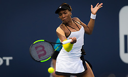 March 25, 2019 - Miami, FLORIDA, USA - Venus Williams of the United States in action during her fourth-round match at the 2019 Miami Open WTA Premier Mandatory tennis tournament (Credit Image: © AFP7 via ZUMA Wire)