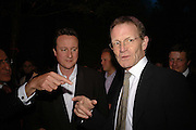 NICHOLAS SEROTA, DAVID CAMERON  , Launch of TatE Modern's rehang of its permanent Collection in partnership with UBS. Tate Modertn. 23 May 2006. ONE TIME USE ONLY - DO NOT ARCHIVE  © Copyright Photograph by Dafydd Jones 66 Stockwell Park Rd. London SW9 0DA Tel 020 7733 0108 www.dafjones.com