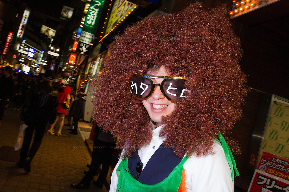 People dress in costume for Halloween in Shibuya, Tokyo, Japan. Friday October 31st 2014