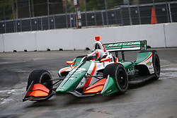 July 14, 2018 - Toronto, Ontario, Canada - RENE BINDER. (32) of Austria attempts to qualify in the rain for the Honda Indy Toronto at Streets of Toronto in Toronto, Ontario. (Credit Image: © Justin R. Noe Asp Inc/ASP via ZUMA Wire)