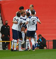 Football - 2020 / 2021 Premier League - Manchester United  vs Tottenham Hotspur - Old Trafford<br /> <br /> Son Heung-Min of Tottenham Hotspur celebrates at Old Trafford<br /> <br /> COLORSPORT/LYNNE CAMERON