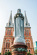 Saigon Notre-Dame Basilica, officially Basilica of Our Lady of The Immaculate Conception is a cathedral located in the downtown of Ho Chi Minh City, Vietnam. Established by French colonists, the cathedral was constructed between 1863 and 1880