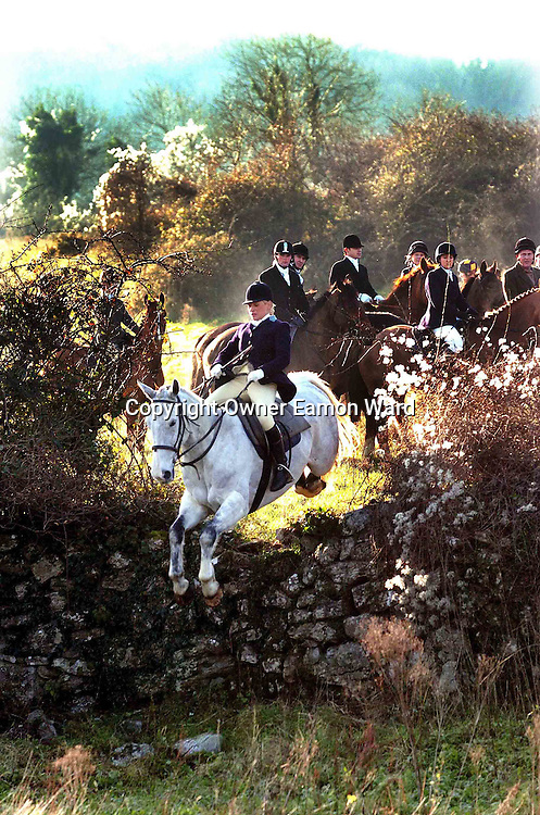 The Hunting Party..People take part in the Clare Hunt outside Ennis Co Clare,Ireland...Photograph by Eamon Ward