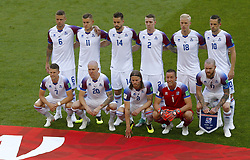June 16, 2018 - Moscou, Rússia - MOSCOU, MO - 16.06.2018: ARGENTINA VS ICELAND - Iceland team debut at World Cups during the match between Argentina and Iceland valid for the 2018 World Cup held at the Otkrytie Arena (Spartak) in Moscow, Russia. (Credit Image: © Rodolfo Buhrer/Fotoarena via ZUMA Press)