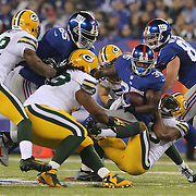 Andre Brown, the New York Giants running back in action during the New York Giants Vs Green Bay Packers, NFL American Football match at MetLife Stadium, East Rutherford, New Jersey, USA. 17th November 2013. Photo Tim Clayton