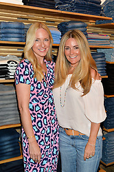 Left to right, ROSIE NIXON and DONNA IDA at a party to celebrate the paperback lauch of The Stylist by Rosie Nixon hosted by Donna Ida at her store at 106 Draycott Avenue, London on 17th August 2016.